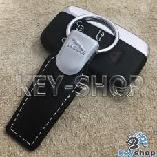 Кожаный брелок для авто ключей Jaguar (Ягуар)