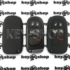 Чехол (черный, силиконовый) для авто ключа Jeep (Джип) 4 + 1 кнопки