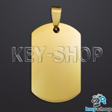 Жетон для лазерной гравировки (металл) под золото, 35х22мм
