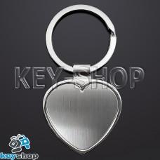 Брелок для лазерной гравировки (металл) сердце, 35х35мм