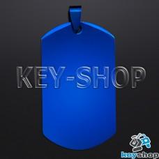 Жетон для лазерной гравировки (металл) синий, 49х27мм