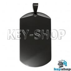 Жетон для лазерной гравировки (металл) черный, 49х27мм