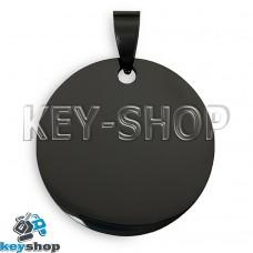 Жетон для лазерной гравировки (металл) Круглый, черный, 30х30мм