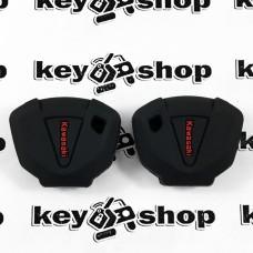Чехол (черный, силиконовый) для мото ключа Kawasaki (Кавасаки)