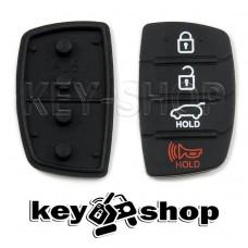 Резиновые кнопки для выкидного ключа KIA (КИА) 3 + 1 кнопки (Panic)