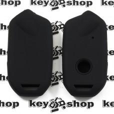 Чехол (черный, силиконовый) для смарт ключа KIA (КИА)