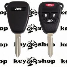 Ключ для Jeep (Джип) 3 кнопки + 1, чип ID46 (PCF7941), 315 MHz