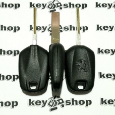Корпус автоключа под чип Peugeot (Пежо) лезвие HU83T
