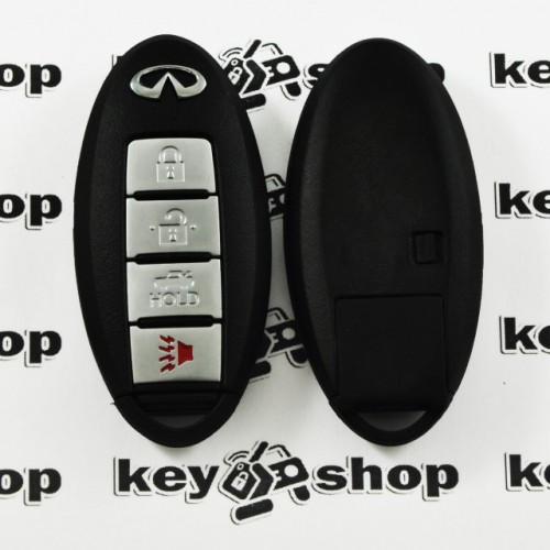 Cмарт ключ Infinity (Инфинити) 3 кнопки + 1 (panic) с чипом ID46, 315 MHz