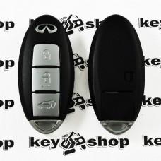 Корпус смарт ключа Infiniti (Инфинити) 3 кнопки, (с лезвием)