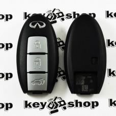 Корпус смарт ключа Infiniti (Инфинити) 3 кнопки, (без лезвия)