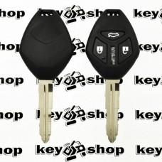 Корпус авто ключа для Mitsubishi (Мицубиси) 3 - кнопки, лезвие MIT8