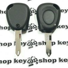 Корпус авто ключа для Renault Laguna (Рено Лагуна) 1 - кнопка, лезвие NE73 (с местом под диод)