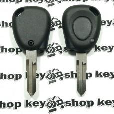 Корпус авто ключа для Renault Laguna (Рено Лагуна)1 - кнопка, лезвие VAC102 (с местом под диод)