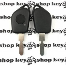 Корпус ключа для Peugeot (Пежо) 406, 1 кнопка, лезвие NE78, (с местом под диод)