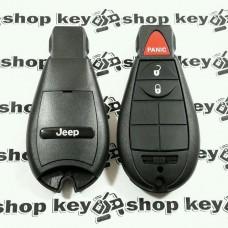 Смарт ключ для Jeep (Джип) 2 кнопки + 1 (panic), чип PCF7941, 433 MHz