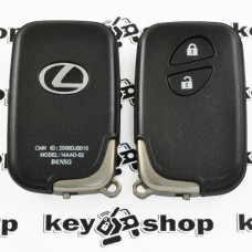 Корпус смарт ключа для LEXUS (Лексус) RX, GX, LX, IS, GS, ES, LS, HS250H, CT200H - 2 кнопки