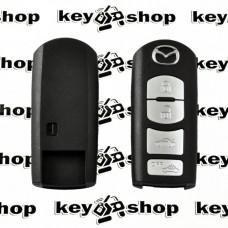 Корпус смарт ключа Mazda (Мазда) 4 кнопки, (без лезвия)