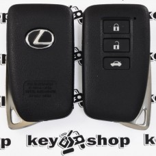 Корпус смарт ключа для LEXUS (Лексус) RX, GX, LX, IS, GS, ES, LS, HS250H, CT200H - 3 кнопки