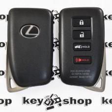 Корпус смарт ключа для LEXUS (Лексус) RX, GX, LX, IS, GS, ES, LS, HS250H, CT200H - 3+1 кнопки