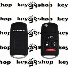 Корпус выкидного ключа для Dodge (Додж) 3 кнопки + 1 (panic)