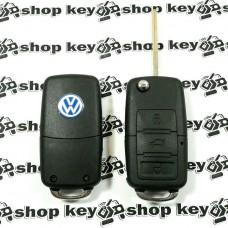 Корпус выкидного авто ключа для VOLKSWAGEN (фольксваген) 3 - кнопки (с болтиками)