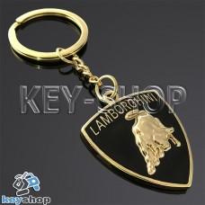 Металлический (золотистый) брелок для авто ключей Lamborghini (Ламборджини)