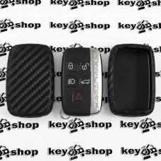 Чехол (силиконовый, под карбон) для смарт ключа LAND ROVER (Ленд Ровер)