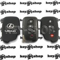 Чехол (черный, силиконовый) смарт ключа LEXUS (Лексус) 4 кнопки
