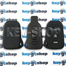 Чехол на смарт ключ Lexus (Лексус), (черный, силиконовый) 3 кнопки