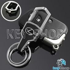 Металлический брелок для авто ключей LEXUS (Лексус) с карабином и кожаной вставкой