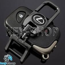 Брелок для ключа Lexus (Лексус), (темный хром), с карабином