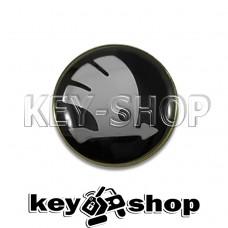 Логотип силиконовый (черный) для авто ключа Skoda (Шкода) 10 мм