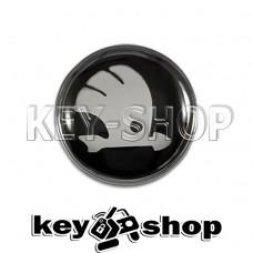 Логотип силиконовый (черный) для авто ключа Skoda (Шкода) 12 мм