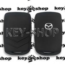 Чехол (силиконовый) для смарт карты Mazda (Мазда) (черный)