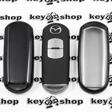 Чехол (черный, полиуретановый) для смарт ключа Mazda (Мазда)