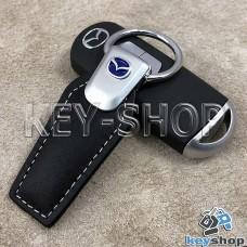 Кожаный брелок для авто ключей  MAZDA (Мазда)