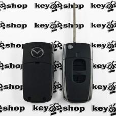 Корпус выкидного автоключа Mazda (Мазда) 2 кнопки (Тип 1)