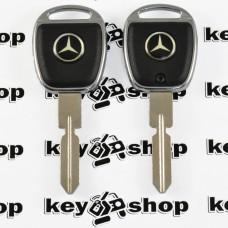 Корпус ключа под чип для Mercedes (Мерседес), лезвие HU39 (с подсветкой)