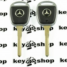 Корпус ключа под чип для Mercedes (Мерседес), лезвие HU64 (с подсветкой)