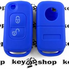 Силиконовый чехол для выкидного ключа Мерседес (MERCEDES) 2 кнопки