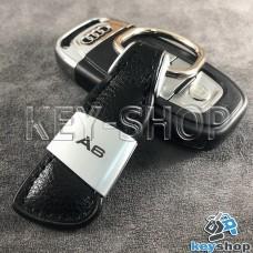 Кожаный брелок для авто ключей Audi A6 (Ауди А6)