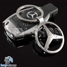 Металлический брелок для авто ключей Mercedes (Мерседес)