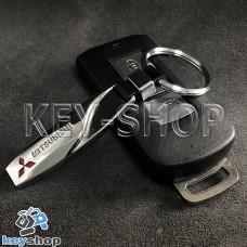 Металлический брелок для авто ключей Mitsubishi (Митсубиси)