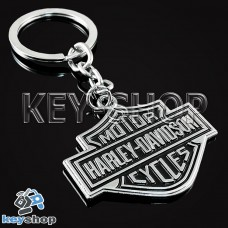 Металлический брелок для ключей с логотипом Harley - Davison (Харли - Дэвидсон)