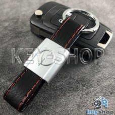 Кожаный брелок для авто ключей Опель (Opel)