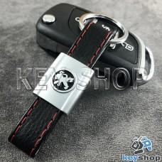 Кожаный брелок для авто ключей Пежо (Peugeot)