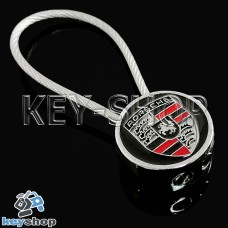 Металлический брелок для авто ключей Порше (Porsche)