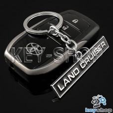 Металлический брелок для авто ключей Toyota Land Cruiser (Тойота Ленд Крузер)