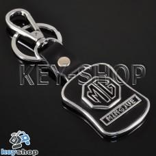 Металлический брелок с кожаными вставками для авто ключей МГ (MG)